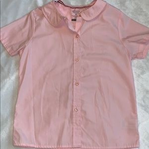 10 French Toast Girl's Pink Button-Down Shirt